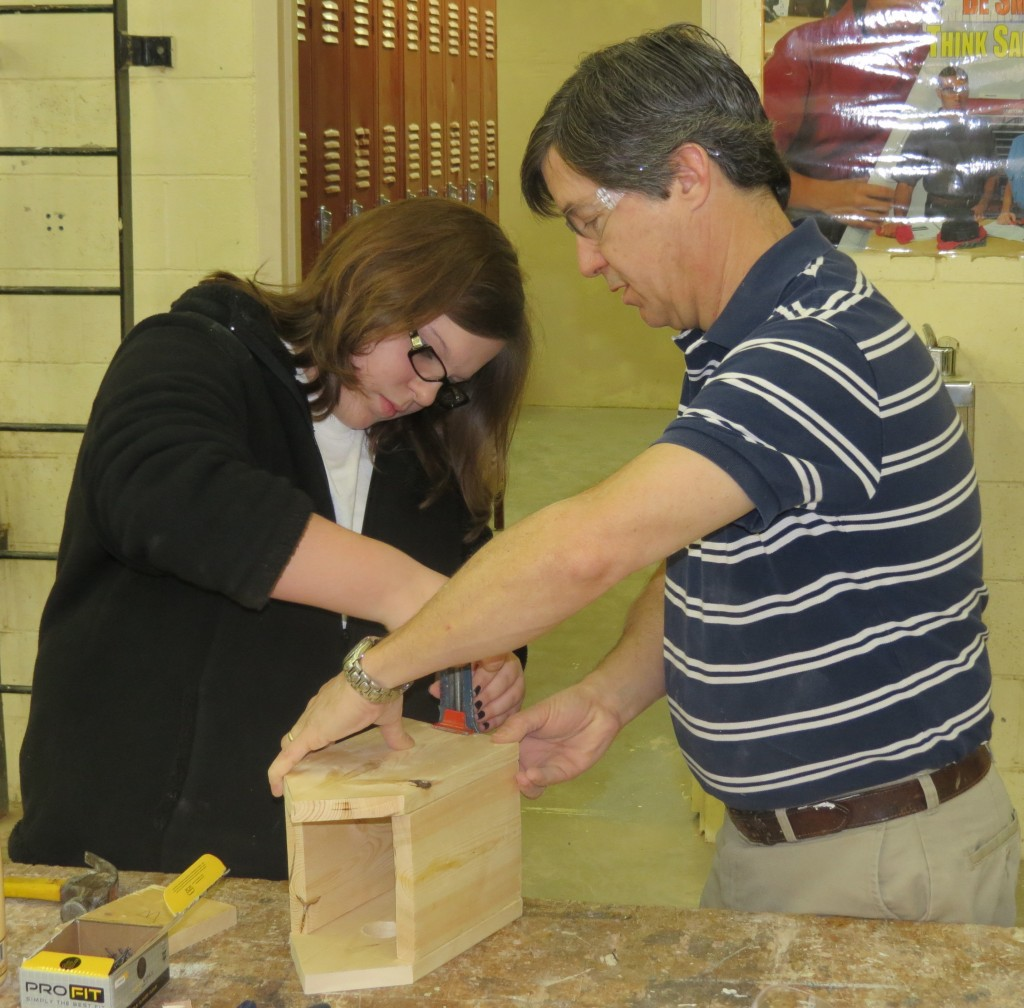 Building Bluebird House - Construction Trades - Rick Robbins, Instructor
