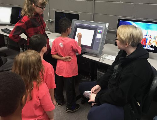 First Grade Students Tour Career & Technical Center