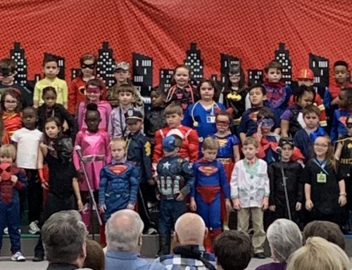 "First Grade Students Present ""Everyday Superheroes"""