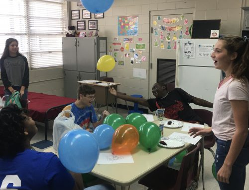 Anchor Club Hosts Party for Life Skills Class