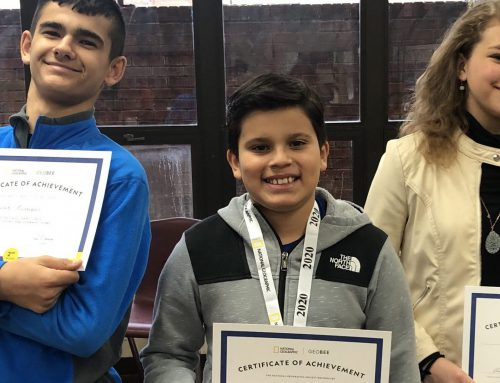 NAMS Geography Bee Winners