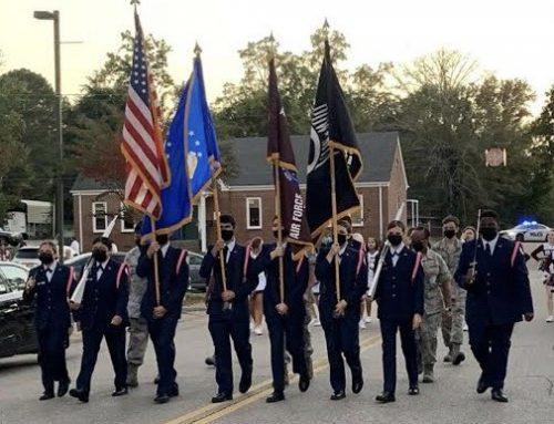 JROTC Participates in Homecoming Parade