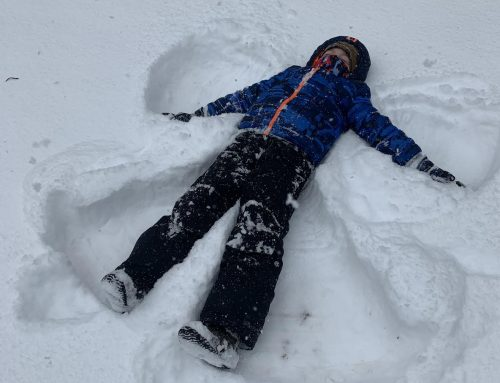 2nd Graders Participate in Family Snow Project & Writing Activity