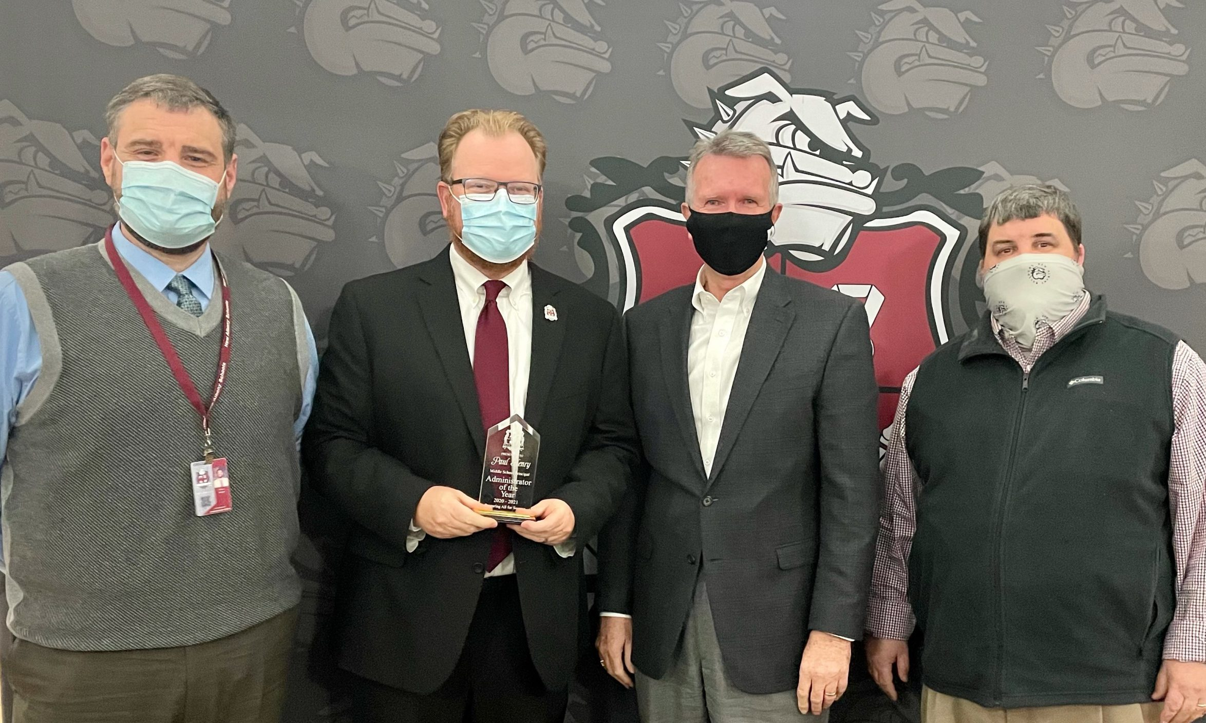 Paul Henry with Dr. Evans, Mike Staten, and Ren Nelson