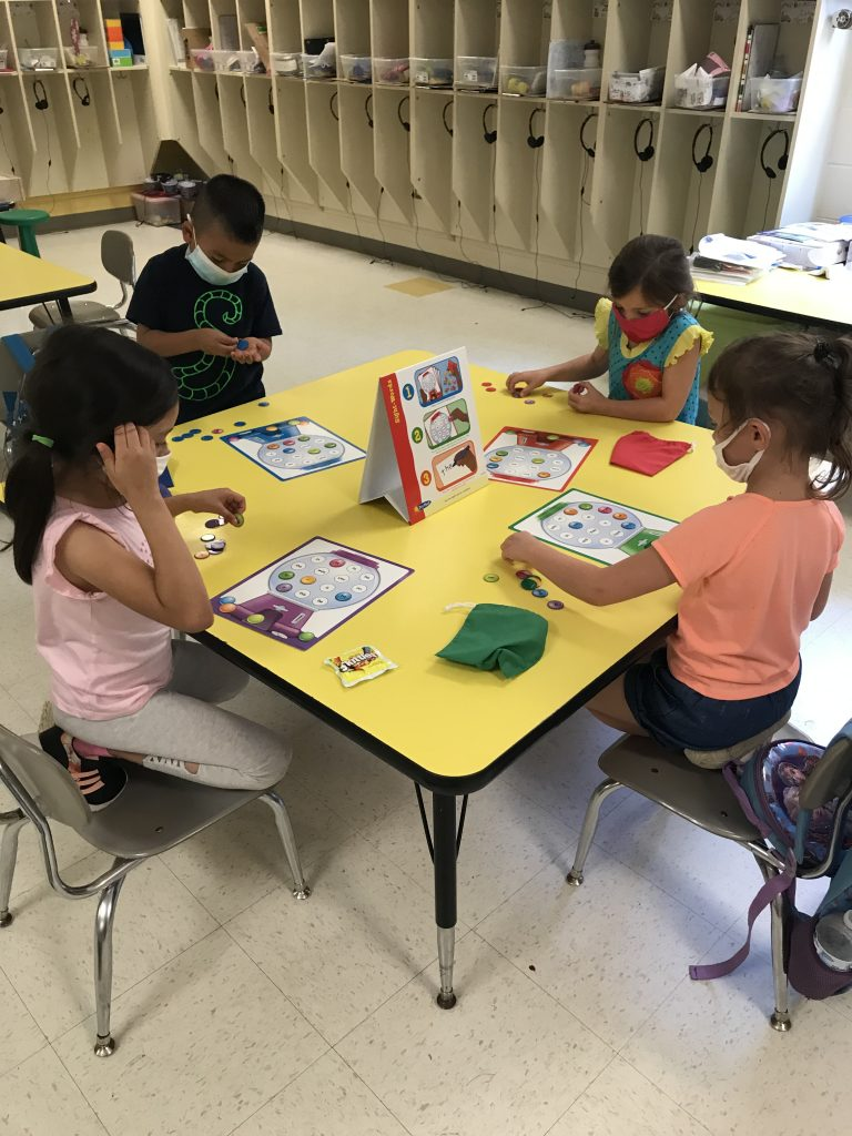 Kindergarten students enjoy hands-on learning
