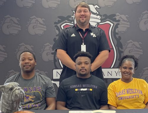 Nugent Signs to Play Football with Kansas Wesleyan