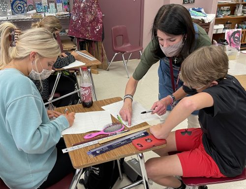 NAHS Art Students Create Flag Art to Celebrate Constitution